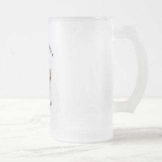 Best Friend Boston Terrier Frosted Glass Beer Mug