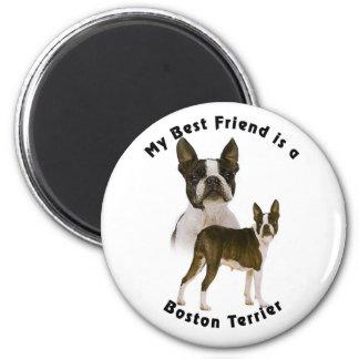 Best Friend Boston Terrier Magnet