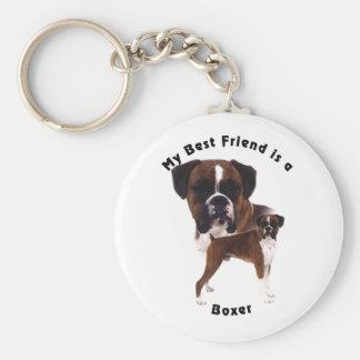 Best Friend Boxer Basic Round Button Keychain
