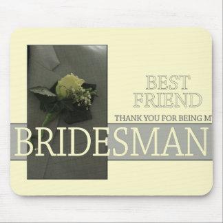 Best Friend Bridesman thank you Mouse Pad