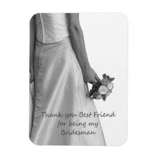 Best Friend Bridesman thank you Rectangular Photo Magnet