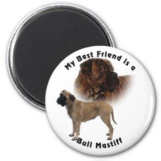 Best friend Bull mastiff 2 Inch Round Magnet