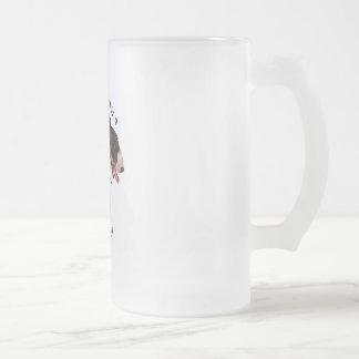Best Friend Bull Terrier Frosted Glass Beer Mug