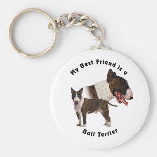 Best Friend Bull Terrier Keychain