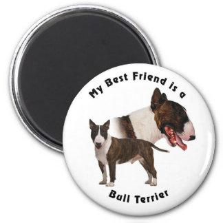 Best Friend Bull Terrier Magnet