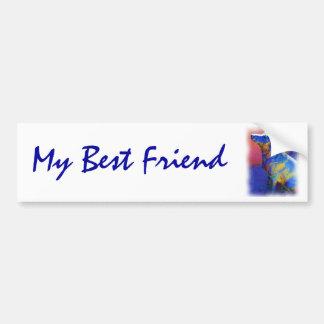 Best Friend bumpersticker Car Bumper Sticker