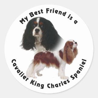 Best Friend Cavalier King Charles Classic Round Sticker