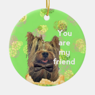 Best friend ceramic ornament