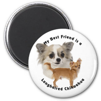 Best Friend Chihuahua Longhaired Magnet