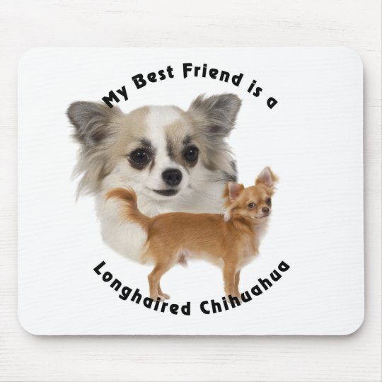 Best Friend Chihuahua Longhaired Mouse Pad