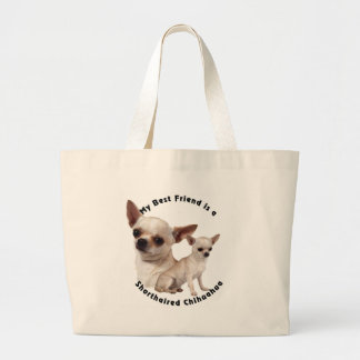 Best Friend Chihuahua Shorthaired Tote Bags