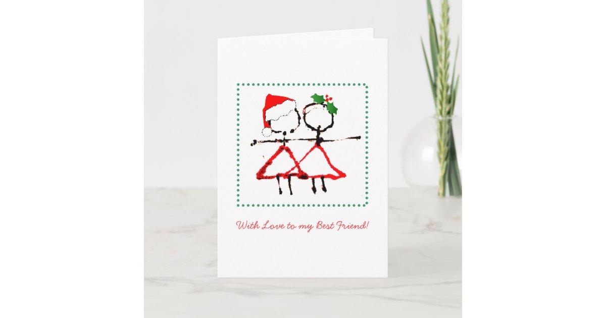 Best Friend Christmas Card   Zazzle.com