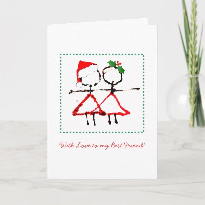 Best Friend Christmas Card Zazzle Com
