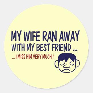 Best Friend Classic Round Sticker