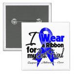 Best Friend - Colon Cancer Ribbon Pinback Button