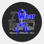 Best Friend - Colon Cancer Ribbon Round Sticker