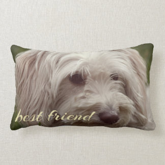 Best friend custom accent throw pillow. lumbar pillow