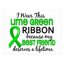 Best Friend Deserves Lifetime Lymphoma Postcard
