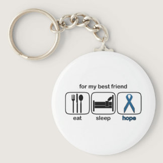 Best Friend Eat Sleep Hope - Colon Cancer Keychain