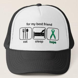 Best Friend Eat Sleep Hope - Kidney Cancer Trucker Hat