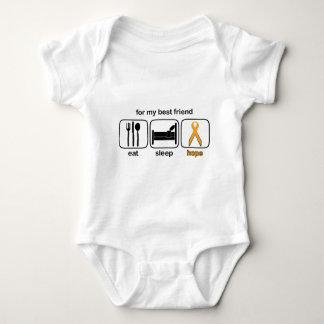 Best Friend Eat Sleep Hope - Leukemia Baby Bodysuit