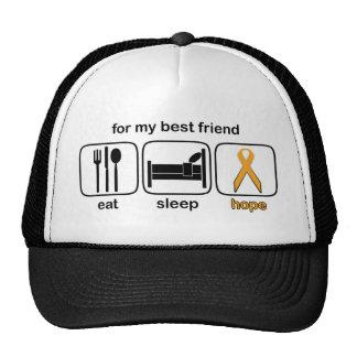 Best Friend Eat Sleep Hope - Leukemia Trucker Hat