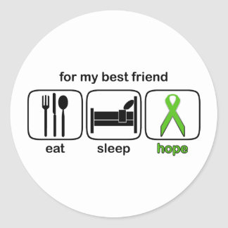 Best Friend Eat Sleep Hope - Lymphoma Classic Round Sticker