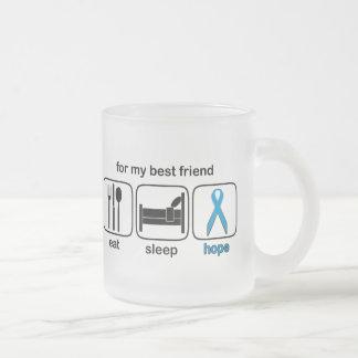 Best Friend Eat Sleep Hope - Lymphoma Frosted Glass Coffee Mug