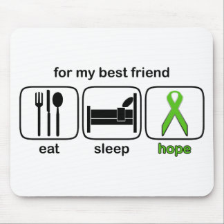 Best Friend Eat Sleep Hope - Lymphoma Mouse Pad