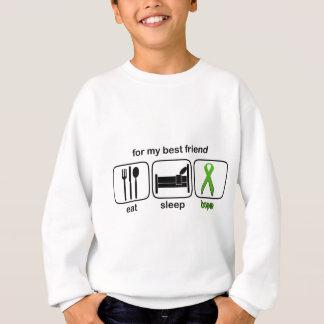 Best Friend Eat Sleep Hope - Lymphoma Sweatshirt
