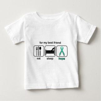 Best Friend Eat Sleep Hope - Ovarian Baby T-Shirt