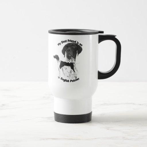 Best Friend English Pointer BW Travel Mug