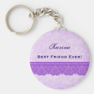 Best Friend Ever Orchid Purple F430 Keychain