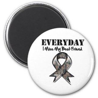 Best Friend - Everyday I Miss My Hero Military 2 Inch Round Magnet