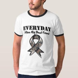 Best Friend - Everyday I Miss My Hero Military Tee Shirt