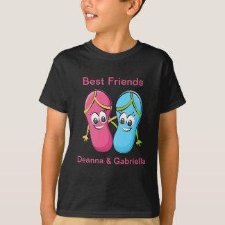 Best Friend Flip Flop Black T Shirt