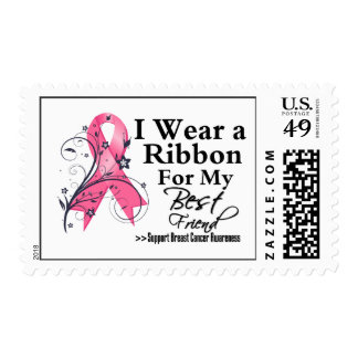 Best Friend Floral Ribbon - Breast Cancer Postage