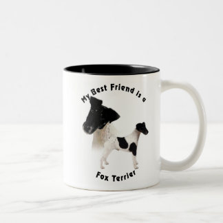 Best Friend Fox Terrier B7W Two-Tone Coffee Mug