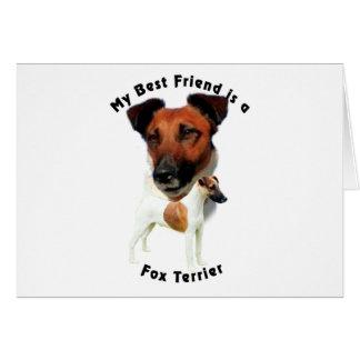 Best Friend Fox Terrier (Red/White) Card