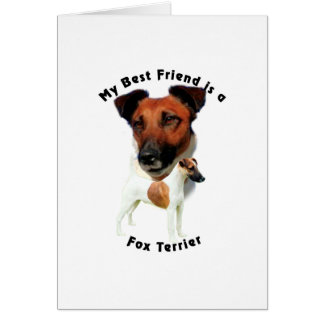Best Friend Fox Terrier (Red/White) Greeting Card