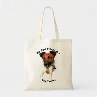 Best Friend Fox Terrier (Red/White) Tote Bag