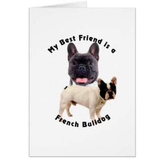 Best Friend French Bulldog Card