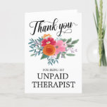 Best Friend Funny Floral Thank You Holiday Card