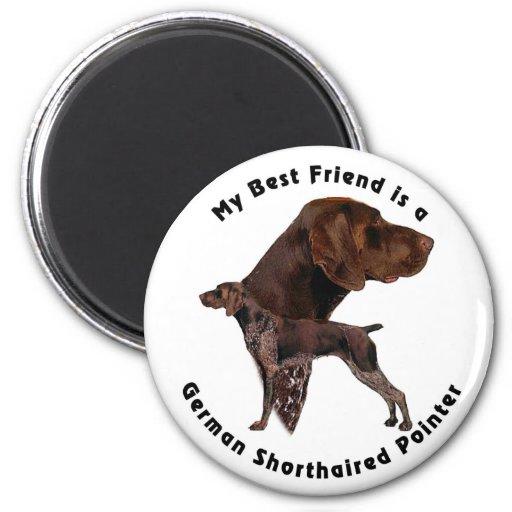 Best Friend German Shorthaired Pointer Refrigerator Magnet