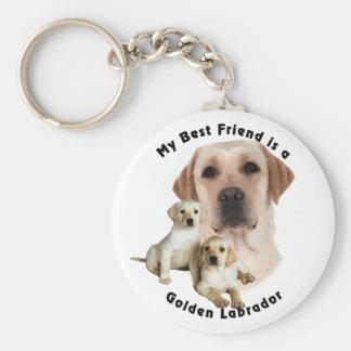 Best Friend Golden labrador Keychain