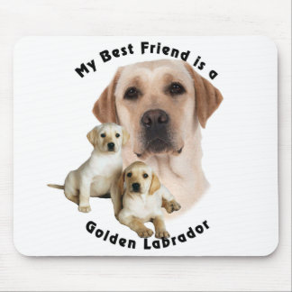 Best Friend Golden labrador Mouse Pad