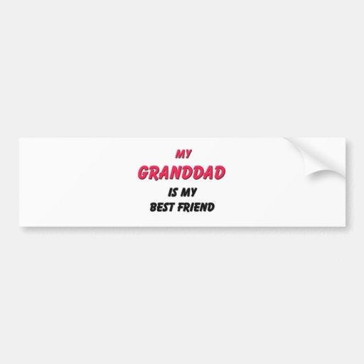 Best Friend Granddad Car Bumper Sticker