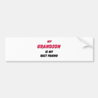 Best Friend Grandson Bumper Sticker