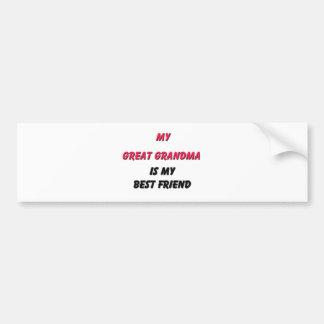 Best Friend Great Grandma Bumper Sticker