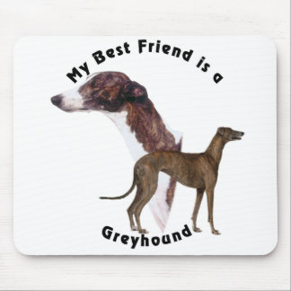 Best Friend greyhound Mouse Pad